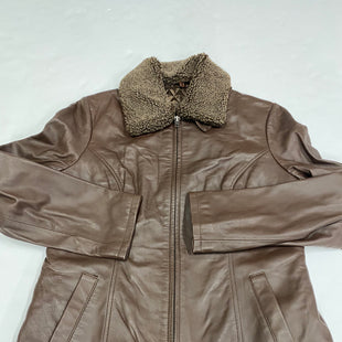 Primary Photo - BRAND: NATURAL REFLECTIONS STYLE: JACKET LEATHER COLOR: BROWN SIZE: M SKU: 200-200199-15975