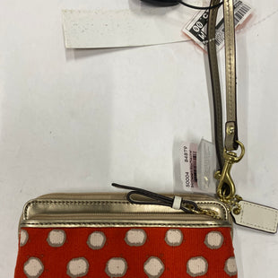 Primary Photo - BRAND: COACH STYLE: WRISTLET COLOR: ORANGE SKU: 200-200202-4108