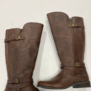 Primary Photo - BRAND: GUESS STYLE: BOOTS KNEE COLOR: BROWN SIZE: 9.5 SKU: 200-200199-6502