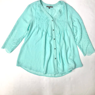 Primary Photo - BRAND: NY COLLECTION STYLE: BLOUSE COLOR: TURQUOISE SIZE: M SKU: 200-200194-7210