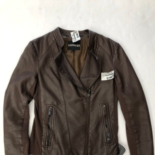 Primary Photo - BRAND: EXPRESS STYLE: JACKET LEATHER COLOR: BROWN SIZE: XS SKU: 200-200202-4047