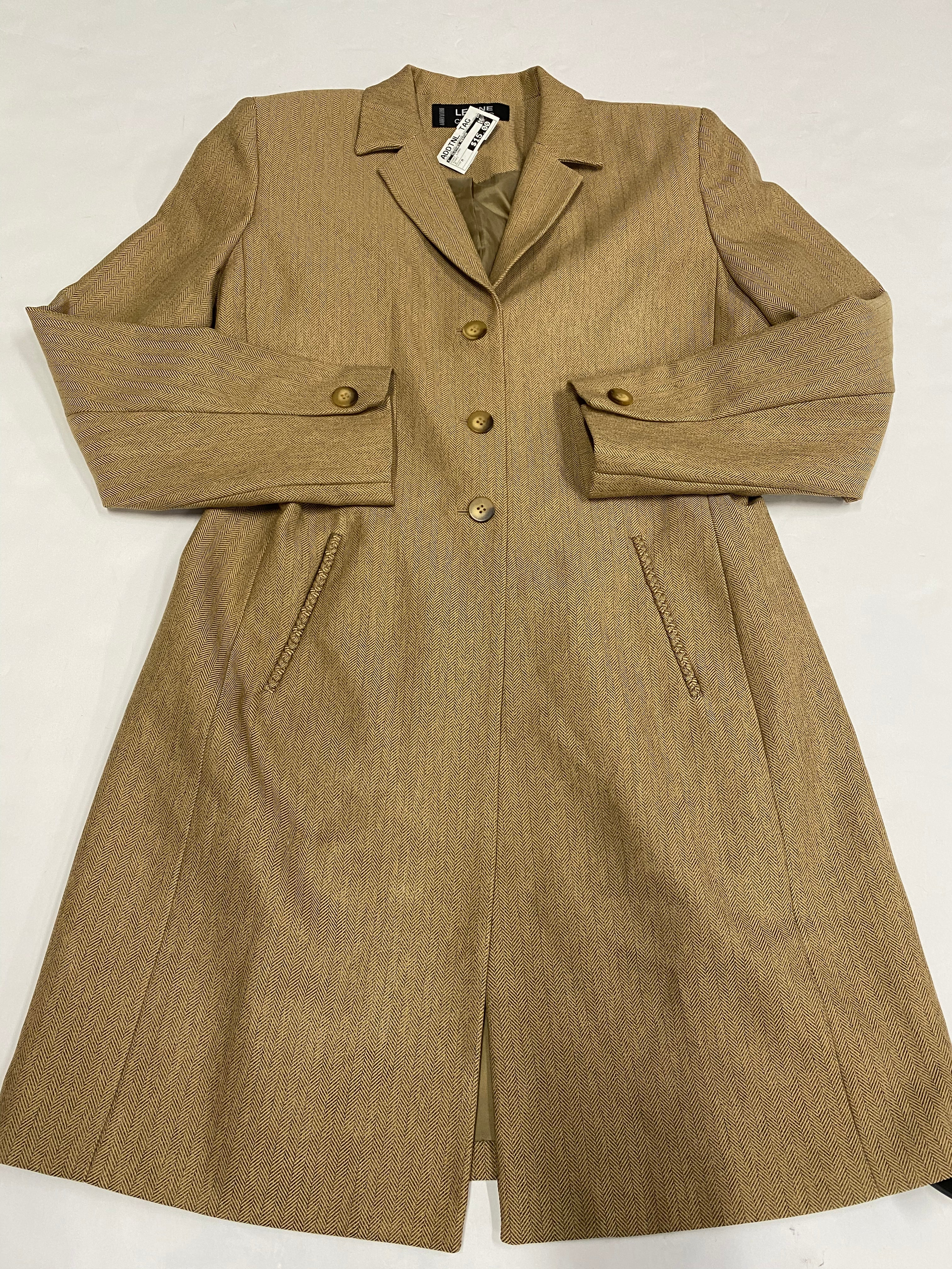 Primary Photo - BRAND:    CLOTHES MENTOR <BR>STYLE: COAT LONG <BR>COLOR: KHAKI <BR>SIZE: M <BR>SKU: 200-200199-12003