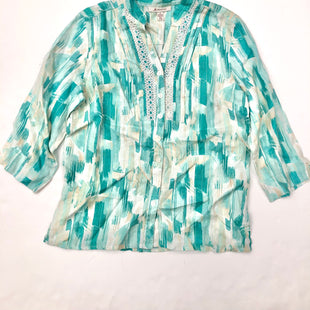 Primary Photo - BRAND: JM COLLECTIONS STYLE: TOP LONG SLEEVE COLOR: BLUE SIZE: 8 SKU: 200-200199-5576