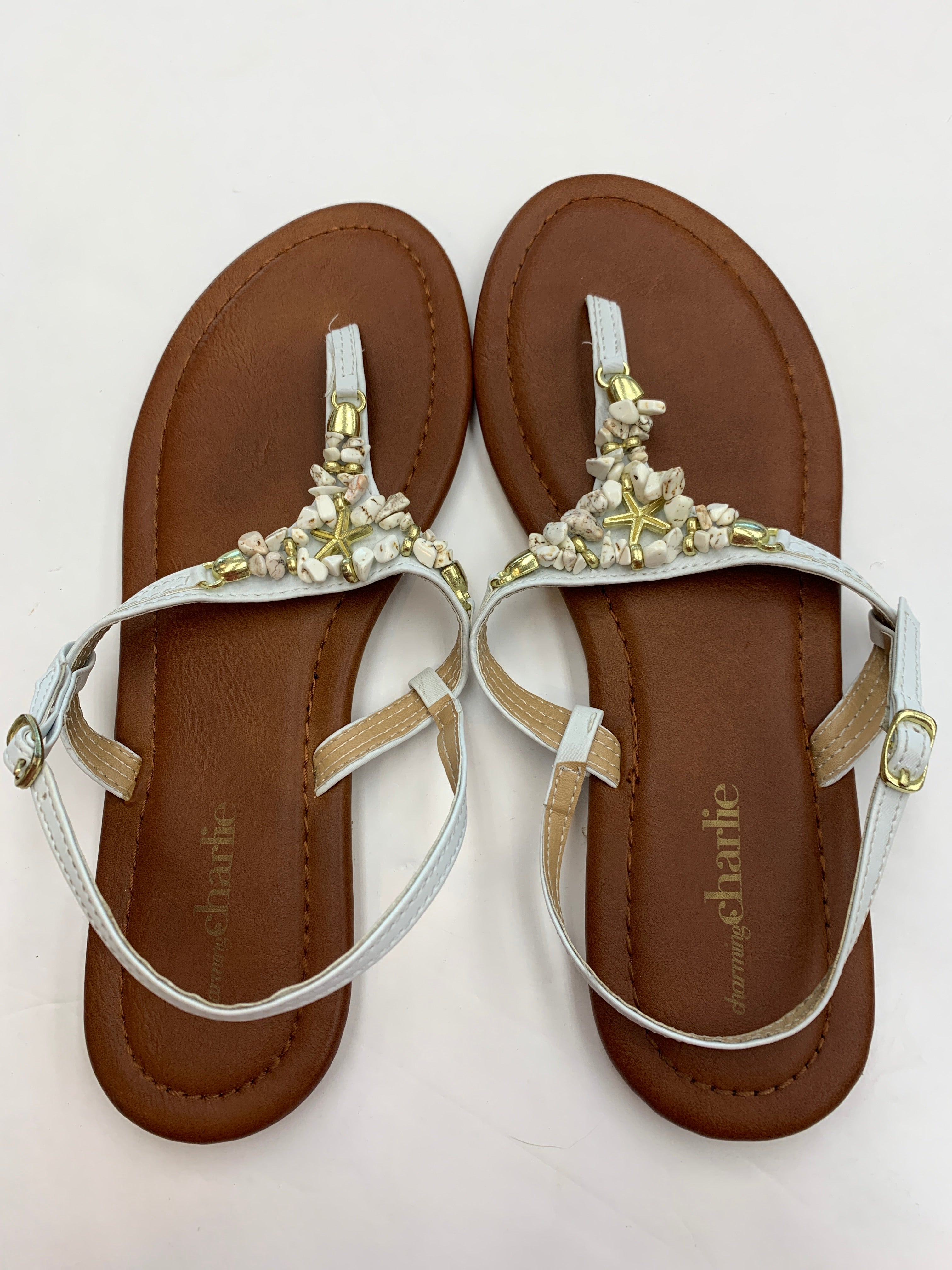 Primary Photo - BRAND: CHARMING CHARLIE <BR>STYLE: SANDALS FLAT <BR>COLOR: STONE <BR>SIZE: 8 <BR>SKU: 200-200194-8081