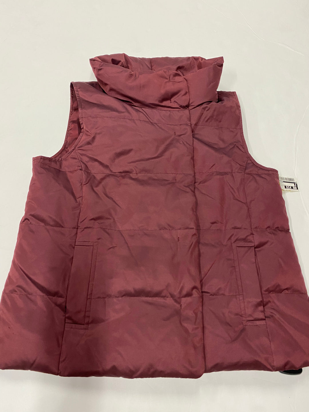 Primary Photo - BRAND: J JILL <BR>STYLE: VEST DOWN <BR>COLOR: MAROON <BR>SIZE: PETITE  MEDIUM <BR>SKU: 200-200178-19977