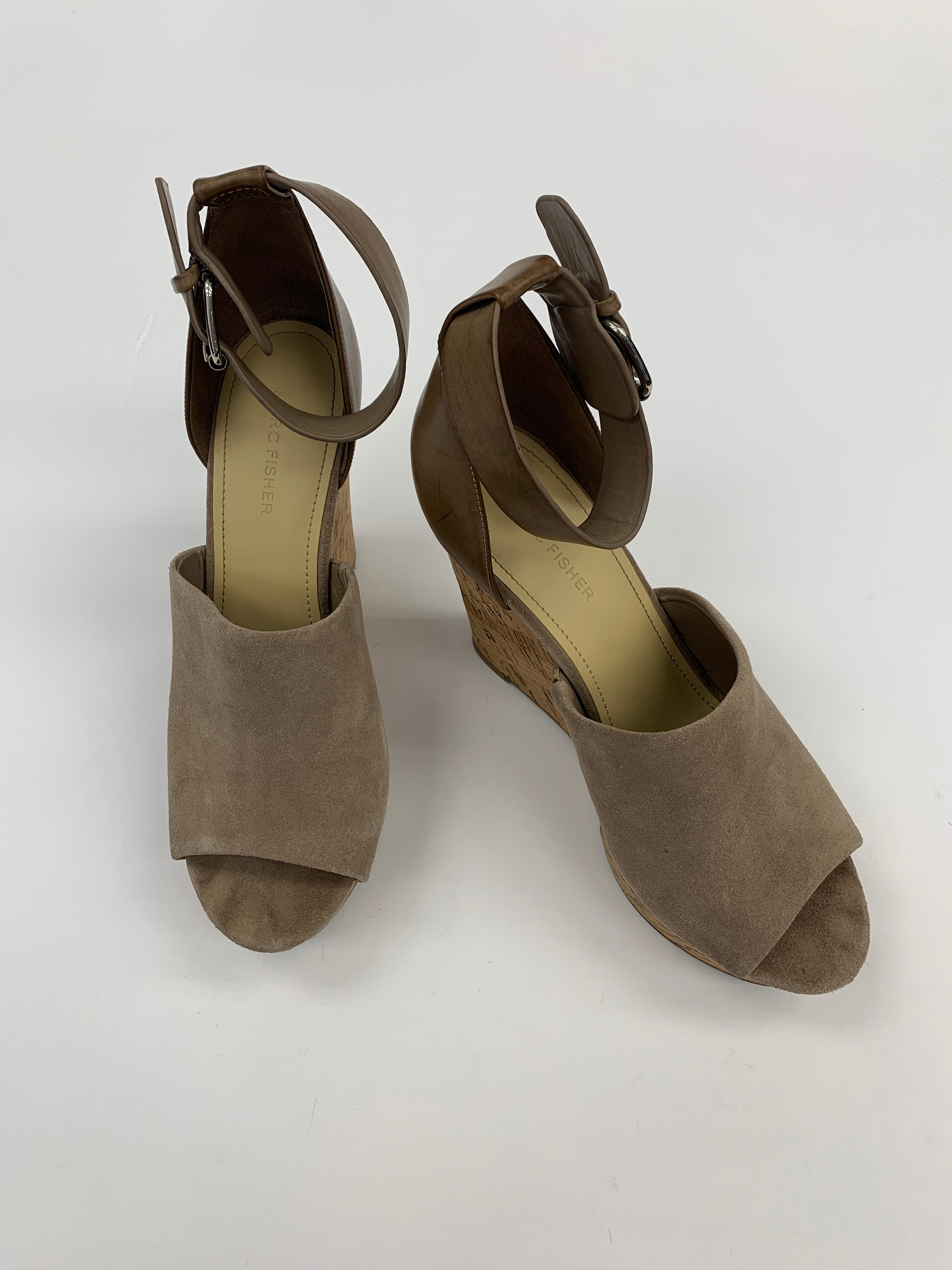 Primary Photo - BRAND: MARC FISHER<BR>STYLE: SANDALS HIGH<BR>COLOR: TAUPE<BR>SIZE: 10<BR>SKU: 200-200178-13951