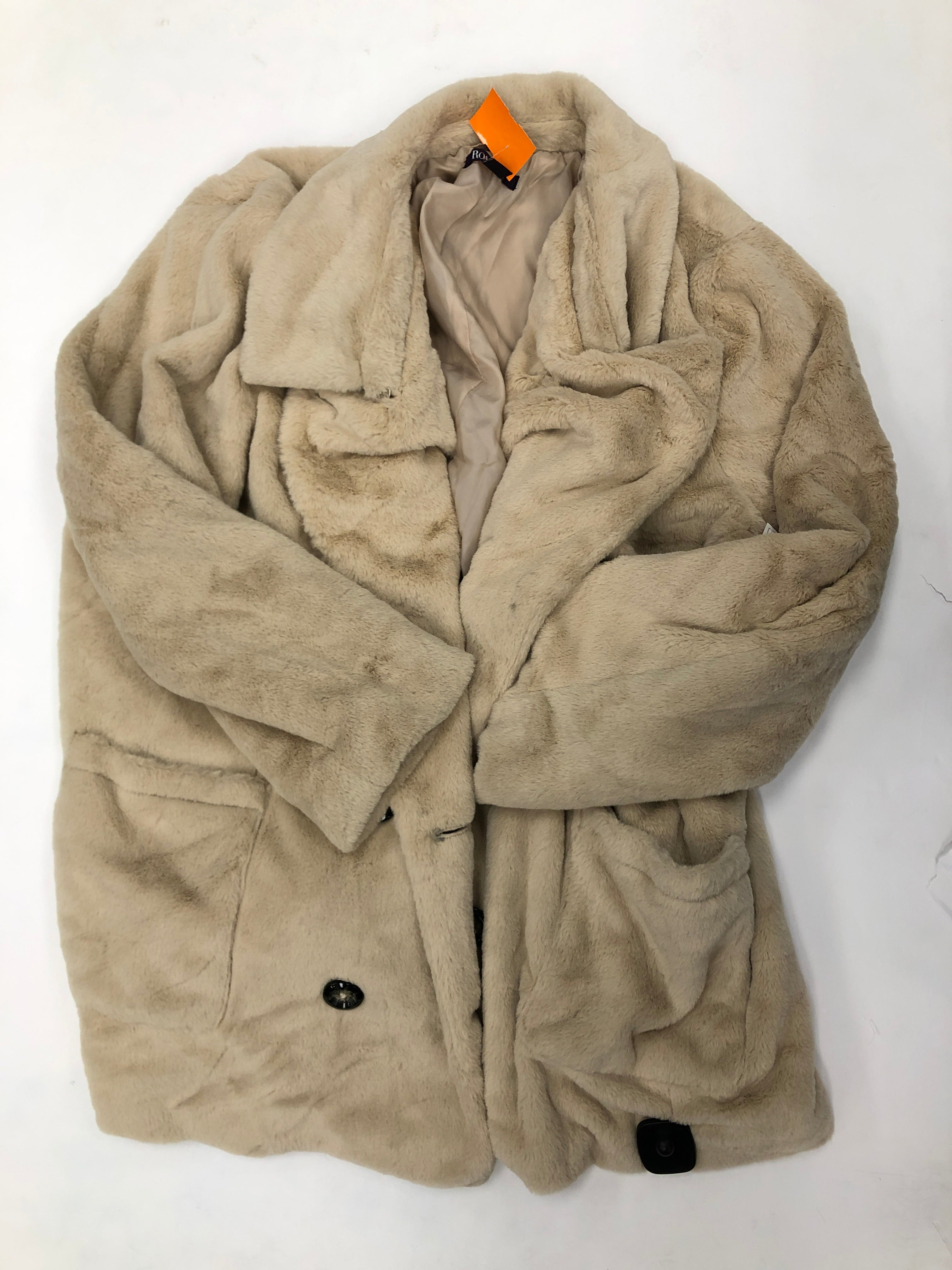 Primary Photo - BRAND: ROMANS <BR>STYLE: JACKET OUTDOOR <BR>COLOR: BROWN <BR>SIZE: 2X <BR>SKU: 200-200199-16458