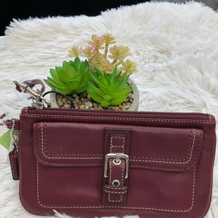 Primary Photo - BRAND: COACH STYLE: WRISTLET COLOR: MAROON SKU: 200-200178-27686