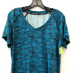 Primary Photo - BRAND:    CLOTHES MENTOR STYLE: ATHLETIC TOP SHORT SLEEVE COLOR: BLUE SIZE: 1X OTHER INFO: GAME TIME - SKU: 200-200178-28129