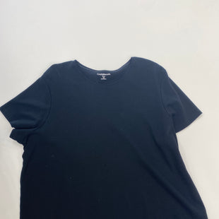 Primary Photo - BRAND: CROFT AND BARROW STYLE: TOP SHORT SLEEVE COLOR: BLACK SIZE: 3X SKU: 200-200208-15