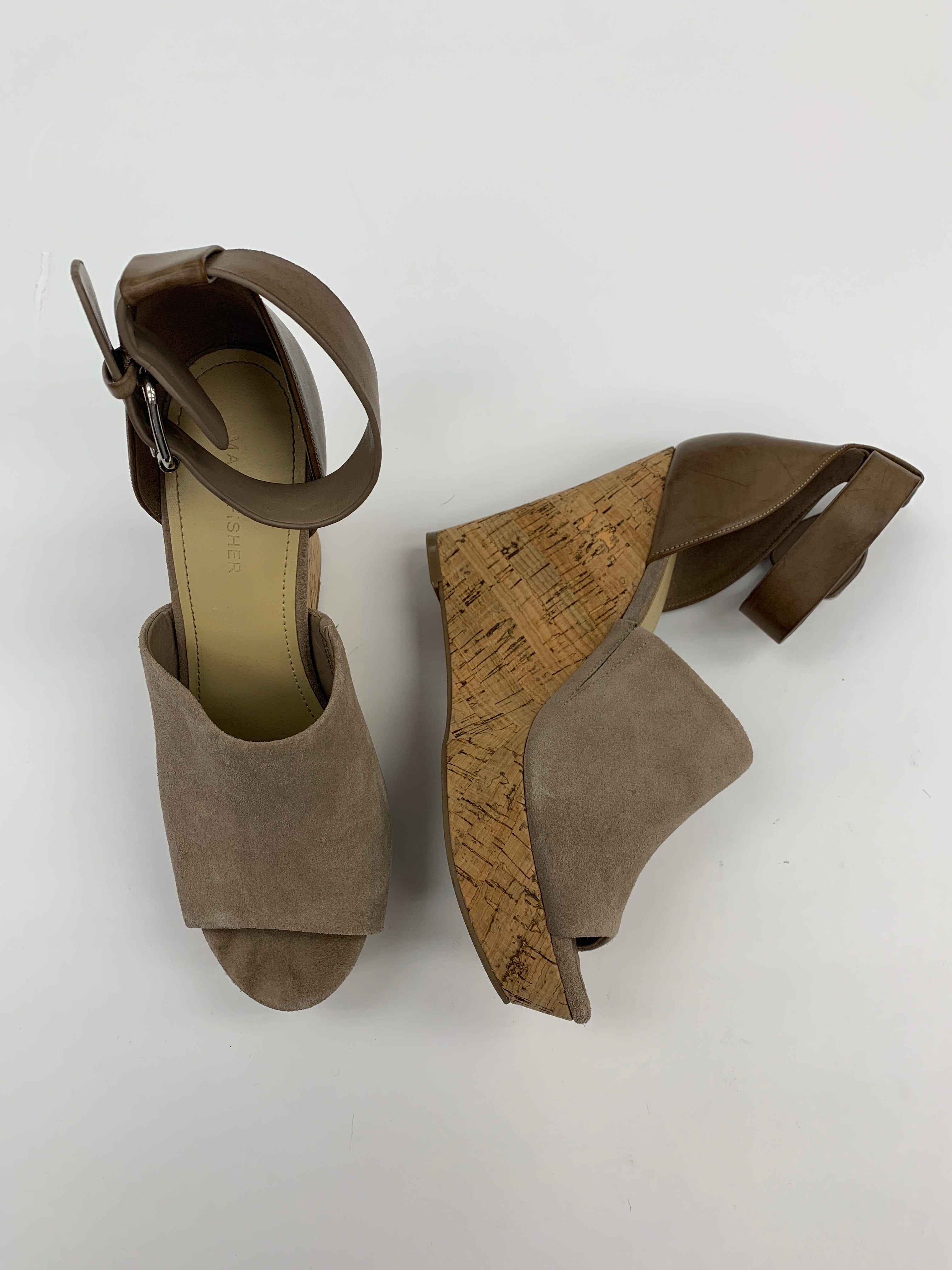 Photo #1 - BRAND: MARC FISHER<BR>STYLE: SANDALS HIGH<BR>COLOR: TAUPE<BR>SIZE: 10<BR>SKU: 200-200178-13951
