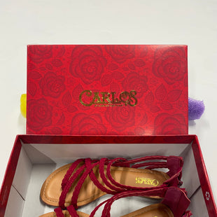 Primary Photo - BRAND: CARLOS SANTANA STYLE: SANDALS FLAT COLOR: RASPBERRY SIZE: 6 SKU: 200-200178-20742
