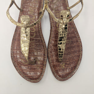 Primary Photo - BRAND: SAM EDELMANSTYLE: SANDALS FLATCOLOR: GOLDSIZE: 11SKU: 200-200178-3190