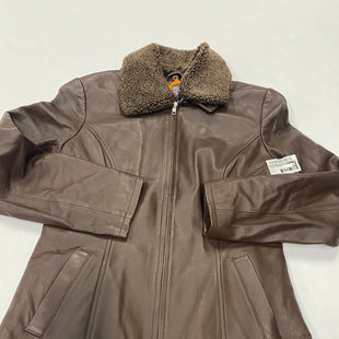 Primary Photo - BRAND: NATURAL REFLECTIONS STYLE: JACKET LEATHER COLOR: BROWN SIZE: S SKU: 200-200199-15976
