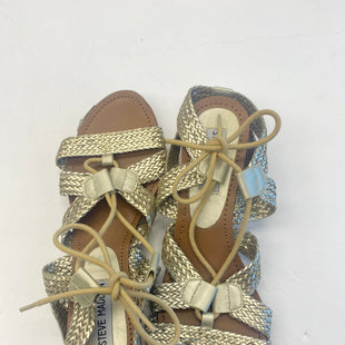 Primary Photo - BRAND: STEVE MADDEN STYLE: SANDALS FLAT COLOR: GOLD SIZE: 7 SKU: 200-200202-1163