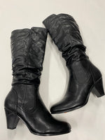 Photo #1 - BRAND: PIERRE DUMAS <BR>STYLE: BOOTS KNEE <BR>COLOR: BLACK <BR>SIZE: 10 <BR>SKU: 200-200178-13567