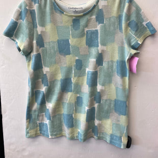 Primary Photo - BRAND: CROFT AND BARROW STYLE: TOP SHORT SLEEVE COLOR: BLUE GREEN SIZE: S SKU: 200-200197-32639
