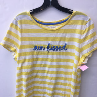 Primary Photo - BRAND: KIM ROGERS STYLE: TOP SHORT SLEEVE COLOR: WHITE YELLOW SIZE: L OTHER INFO: SUN KISSED SKU: 200-200178-29647