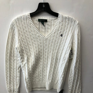 Primary Photo - BRAND: RALPH LAUREN STYLE: SWEATER HEAVYWEIGHT COLOR: WHITE SIZE: PETITE  MEDIUM SKU: 200-200204-1150