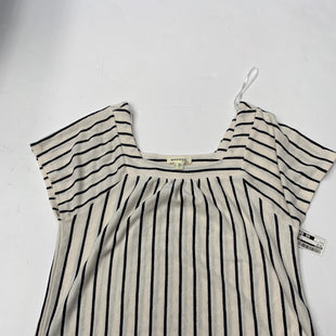 Primary Photo - BRAND: MONTEAU STYLE: TOP SHORT SLEEVE COLOR: STRIPED SIZE: L SKU: 200-200194-5363