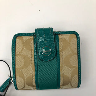 Primary Photo - BRAND: COACH STYLE: WALLET COLOR: TEAL SIZE: SMALL SKU: 200-200199-19361