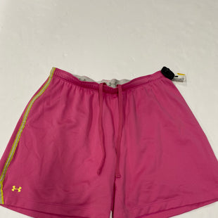 Primary Photo - BRAND: UNDER ARMOUR STYLE: ATHLETIC SHORTS COLOR: PINK SIZE: L SKU: 200-200202-2488