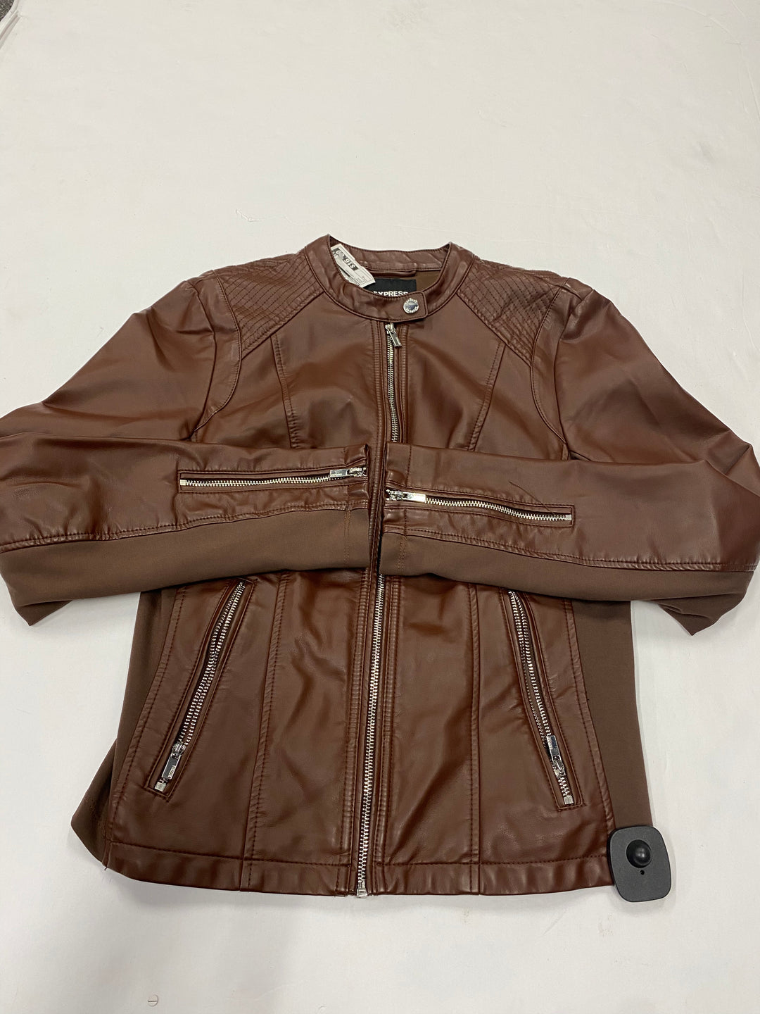 Primary Photo - BRAND: EXPRESS <BR>STYLE: JACKET LEATHER <BR>COLOR: BROWN <BR>SIZE: M <BR>SKU: 200-200202-4559