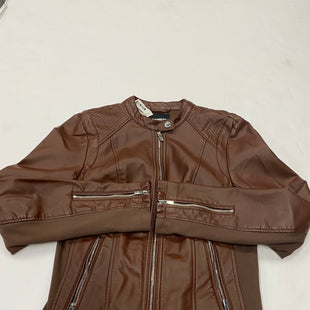 Primary Photo - BRAND: EXPRESS STYLE: JACKET LEATHER COLOR: BROWN SIZE: M SKU: 200-200202-4559