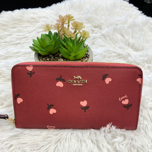 Primary Photo - BRAND: COACH STYLE: WALLET COLOR: RED SIZE: LARGE SKU: 200-200202-6000