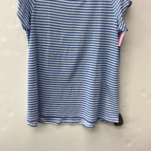 Primary Photo - BRAND: J JILL STYLE: TOP SHORT SLEEVE COLOR: BLUE WHITE SIZE: PETITE   XS SKU: 200-200178-29959