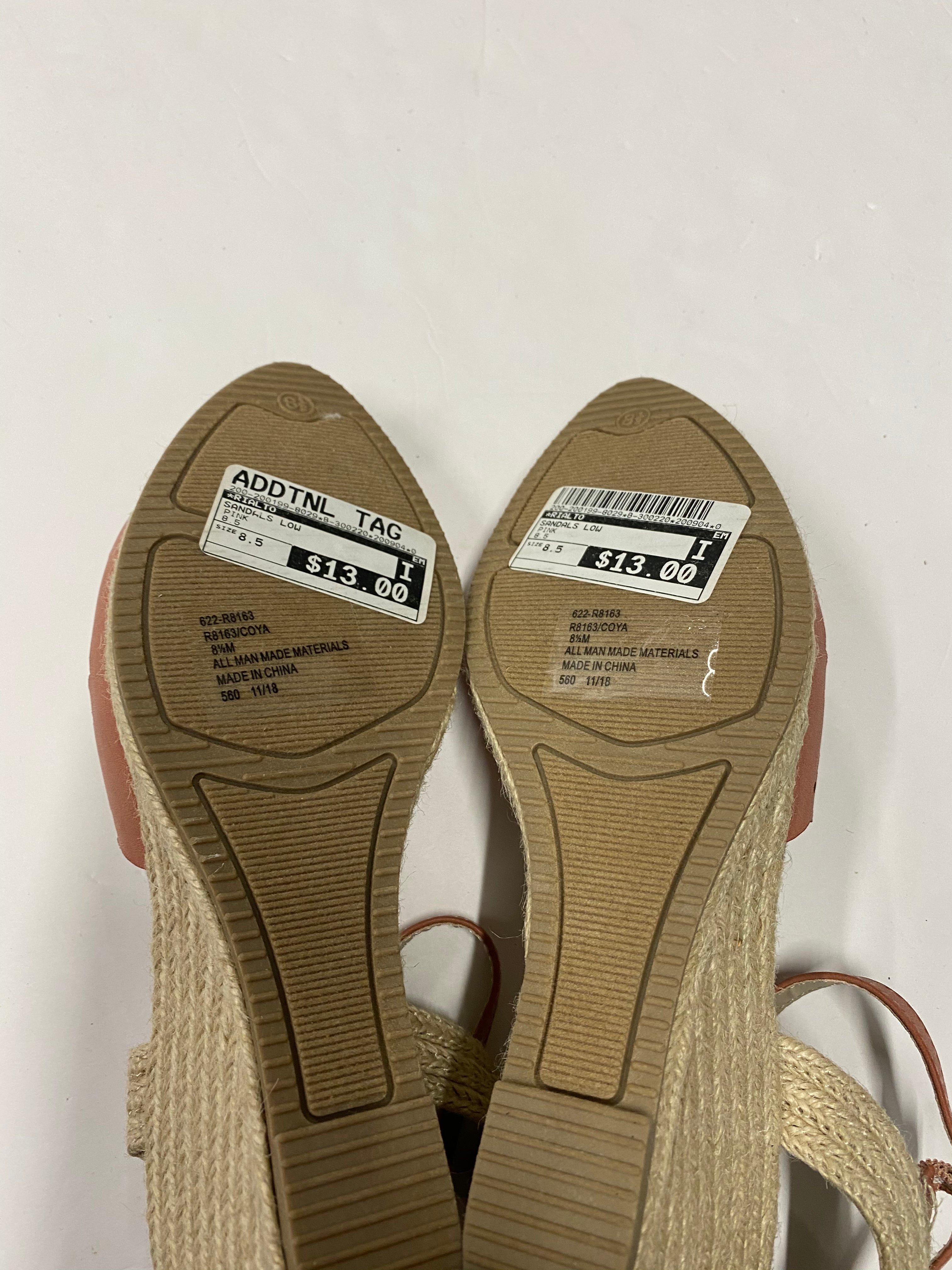 Photo #2 - BRAND: RIALTO <BR>STYLE: SANDALS LOW <BR>COLOR: PINK <BR>SIZE: 8.5 <BR>SKU: 200-200199-8029
