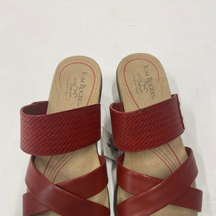 Primary Photo - BRAND: KIM ROGERS STYLE: SANDALS FLAT COLOR: RED SIZE: 9.5 SKU: 200-200199-14902