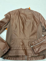 Photo #2 - BRAND: EXPRESS <BR>STYLE: JACKET LEATHER <BR>COLOR: BROWN <BR>SIZE: M <BR>SKU: 200-200202-4559