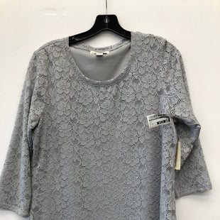 Primary Photo - BRAND: COLDWATER CREEK STYLE: TOP LONG SLEEVE COLOR: GREY SIZE: M SKU: 200-200178-27289