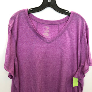 Primary Photo - BRAND: DANSKIN STYLE: ATHLETIC TOP SHORT SLEEVE COLOR: PURPLE SIZE: 4X SKU: 200-200202-5629