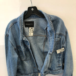 Primary Photo - BRAND: WHO WHAT WEAR STYLE: JACKET OUTDOOR COLOR: DENIM SIZE: L SKU: 200-200178-26991