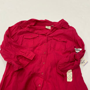 Primary Photo - BRAND: ST JOHNS BAY STYLE: BLOUSE COLOR: PINK SIZE: PETITE LARGE SKU: 200-200199-9003