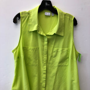 Primary Photo - BRAND: KIM ROGERS STYLE: TOP SLEEVELESS COLOR: LIME GREEN SIZE: 2X SKU: 200-200199-19703