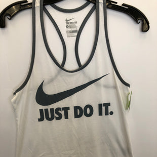 Primary Photo - BRAND: NIKE STYLE: ATHLETIC TANK TOP COLOR: WHITE SIZE: S SKU: 200-200199-19980