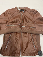 Photo #1 - BRAND: EXPRESS <BR>STYLE: JACKET LEATHER <BR>COLOR: BROWN <BR>SIZE: M <BR>SKU: 200-200202-4559