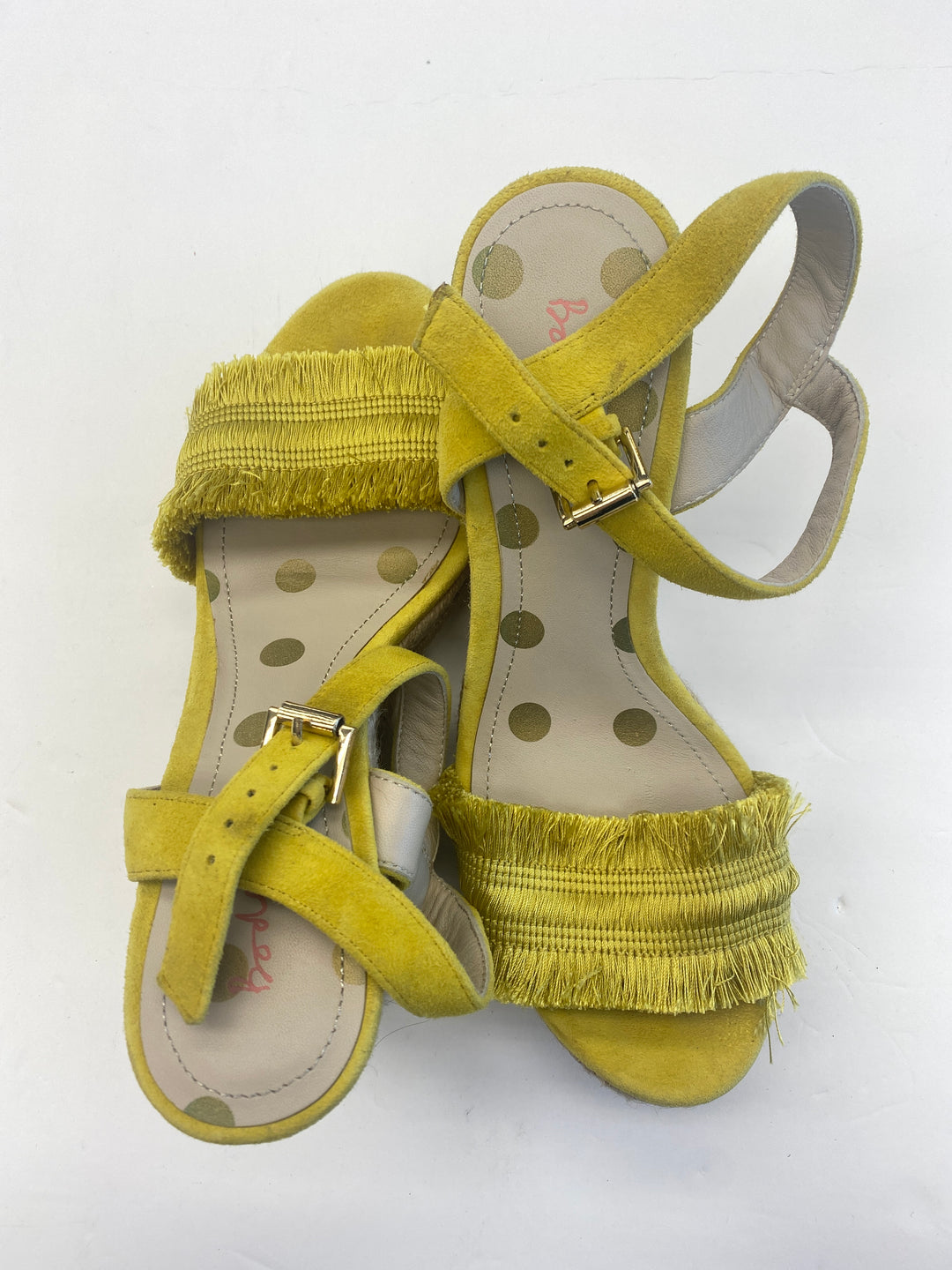 Primary Photo - BRAND: BODEN <BR>STYLE: SANDALS HIGH <BR>COLOR: YELLOW <BR>SIZE: 8 <BR>SKU: 200-200197-35727