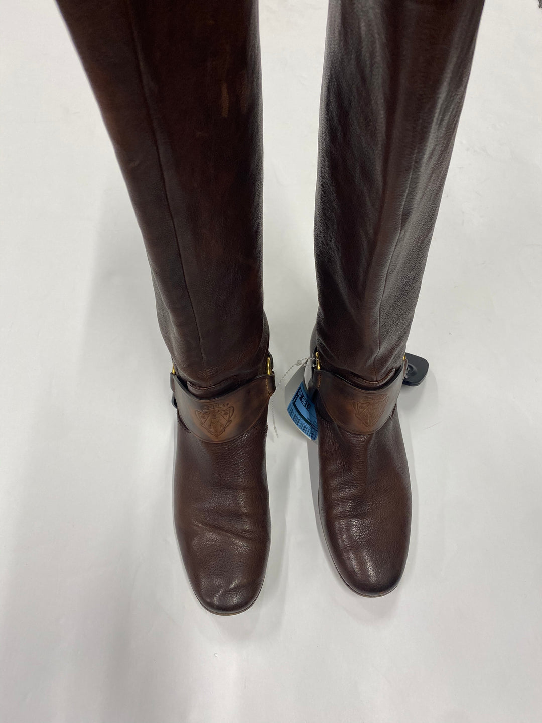 Photo #3 - BRAND: GUCCI <BR>STYLE: BOOTS KNEE <BR>COLOR: BROWN <BR>SIZE: 7 <BR>SKU: 200-200178-24131R