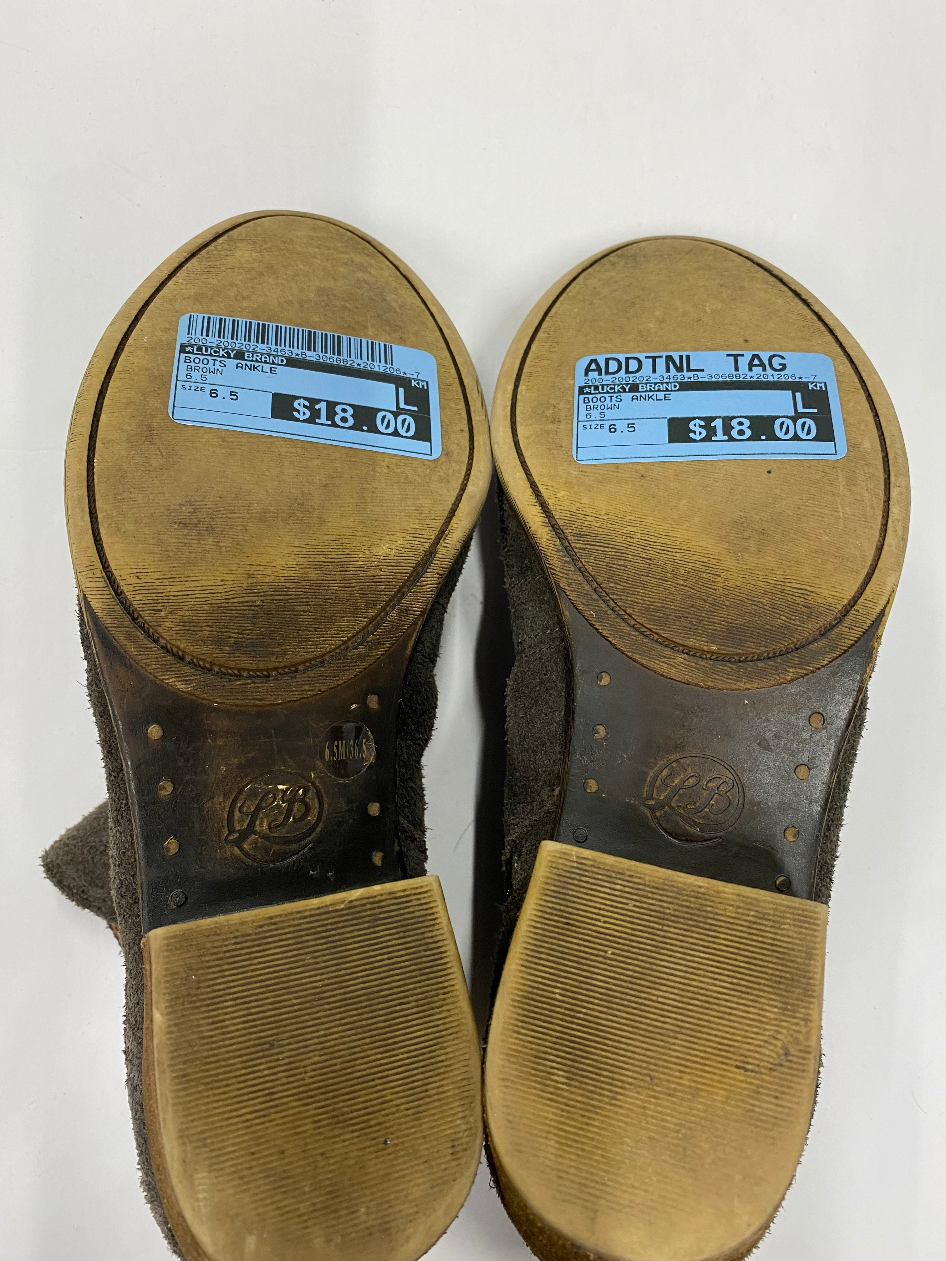 Photo #4 - BRAND: LUCKY BRAND <BR>STYLE: BOOTS ANKLE <BR>COLOR: BROWN <BR>SIZE: 6.5 <BR>SKU: 200-200202-3463