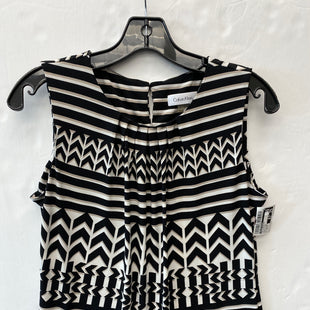 Primary Photo - BRAND: CALVIN KLEIN STYLE: TOP SLEEVELESS COLOR: BLACK WHITE SIZE: PETITE LARGE SKU: 200-200178-29890