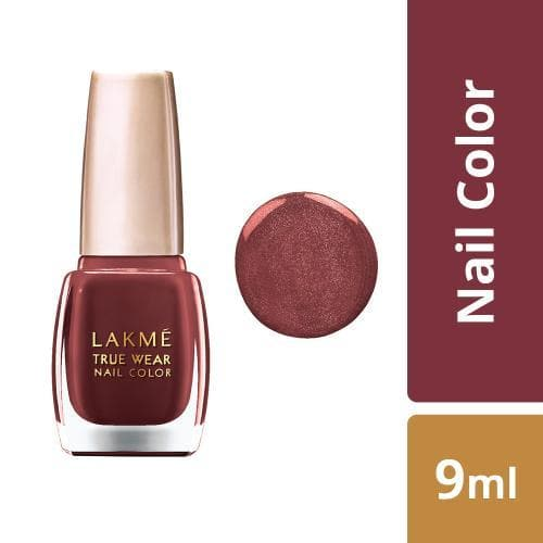Lakme True Wear Nail Color, Shade RC102, 9 ml