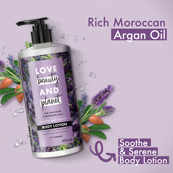Love Beauty & Planet Argan Oil & Lavender Aroma Smooth And SereneBody Lotion 400 ml