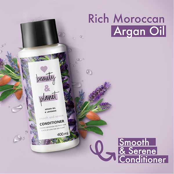 Love Beauty & Planet Argan Oil & Lavender Aroma Smooth And Serene Conditioner