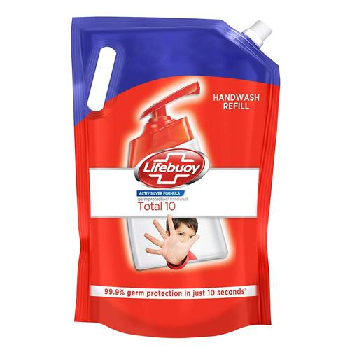 Lifebuoy Total 10 Active Silver Formula-Germ Protection Handwash Refill 1.5 L