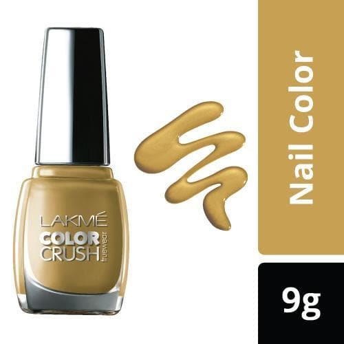 Lakme True Wear Color Crush Nail Color, Gold 01, 9 ml