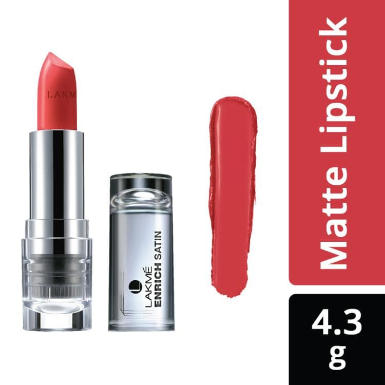 Lakme Enrich Satins Lip Color, Shade P147, 4.3 g - Lakme Salon
